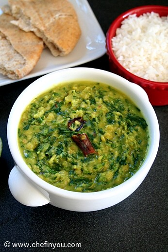 Dal Palak Recipe | Indian Spinach Lentil Curry Recipe ...