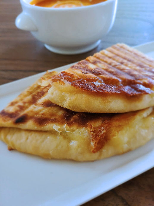 Grilled Cheese using Naan Recipe | Homemade Grilled Cheese Naanwich Recipe