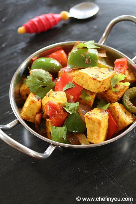 Easy Kadai Paneer Recipe | How to make Kadai Paneer Dry Recipe at home
