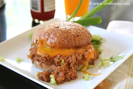 Vegan Seitan Sloppy Joes recipe |  Homemade Sloppy Joes Recipe | Kheema Sloppy Joes
