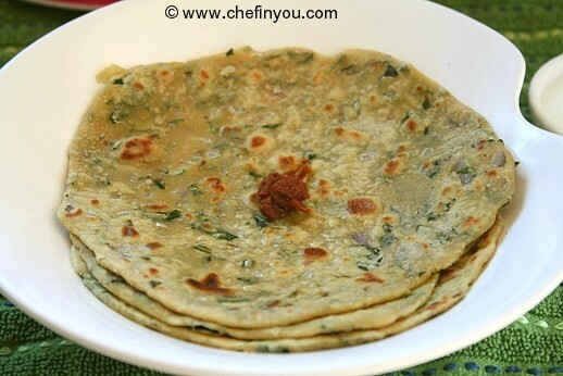 Methi roti recipe indian methi leaves recipe chef in you fenugreek leaves recipes methi paratha recipe forumfinder Image collections