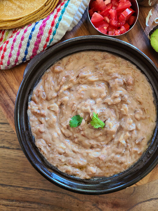 Mexican Refried Beans Recipe |  Frijoles Refritos | How to make homemade Refried Beans
