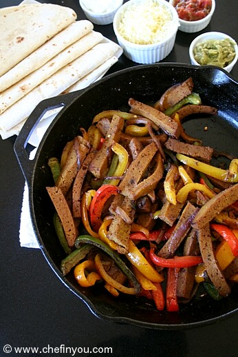 Seitan Fajitas Recipes | Vegetarian Fajitas Recipes