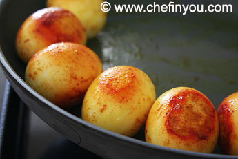 Egg anda curry recipe dhaba style egg curry masala recipe chef this frying of eggs and whole spices is optional and i generally skip it while making at home for us forumfinder Image collections