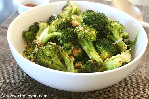 Oven Roasted Broccoli Recipe with Garlic and Lemon |  Healthy Recipes