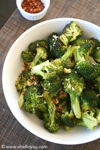 Roasted Broccoli Recipe | Easy Broccoli Recipe | Broccoli and Garlic ...