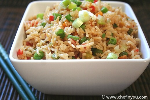 Vegetable Fried Rice (Indo Chinese)