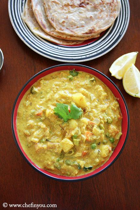 Easy Vegetable Kurma Recipe | Hotel Style Veg Kuruma Recipe