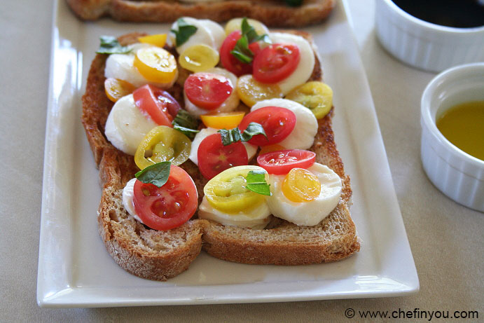 Classic Caprese Toast Recipe | Caprese Salad on Toast