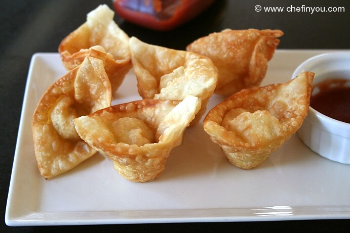 Cream Cheese Wontons Recipe | Panda Express Copycat Rangoons | Chef In ...