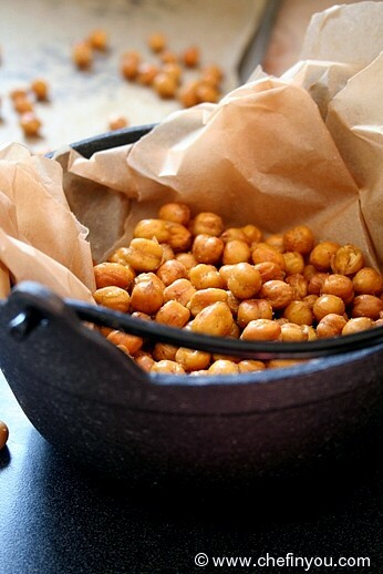 Roasted Chickpeas Recipe | Spicy Oven Baked Chickpeas Recipe | Chef In ...