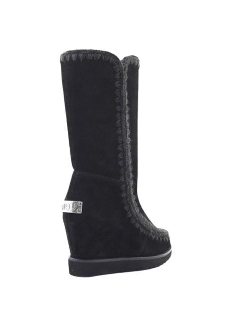 French toe wedge tall Mou | 12 | FW151000ABKBK