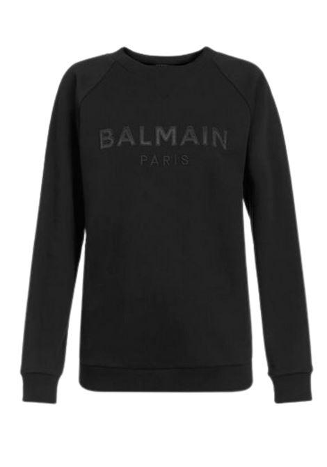 Felpa con logo BALMAIN | -108764232 | UF13691I497EAP