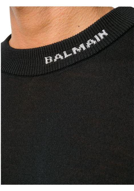 Maglia con logo BALMAIN | 7 | UH13411K0110PA