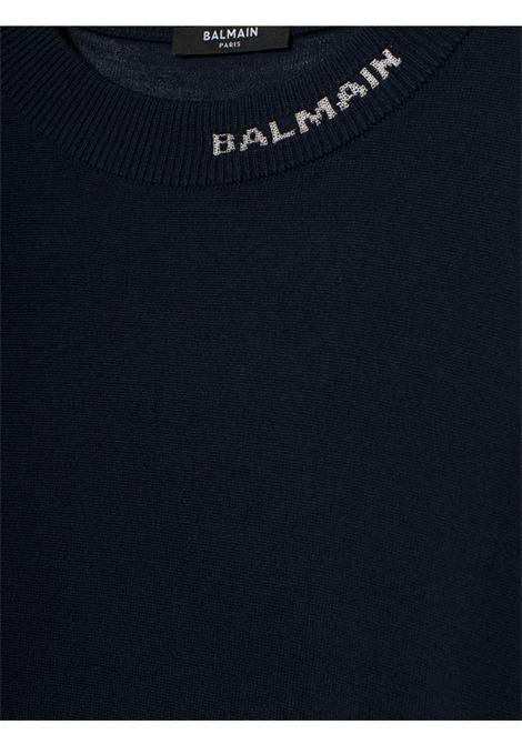Maglia con logo BALMAIN | 7 | UH13411K0116UB