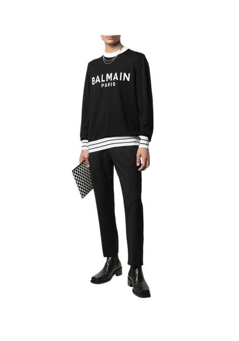 Maglia con logo BALMAIN | 7 | VH1KD006K012EAB