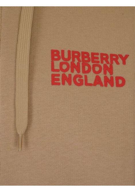 Felpa con cappuccio e coulisse e logo sul retro Burberry | -108764232 | 80375831002