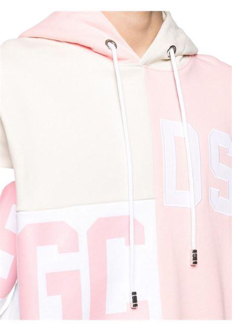 Felpa mix hoodie GCDS | -108764232 | CC94M021025ROSA