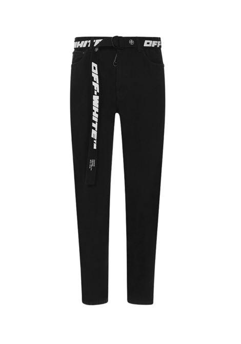 Jeans con cintura logata OFF WHITE | 24 | OMYA005R21DEN001NERO