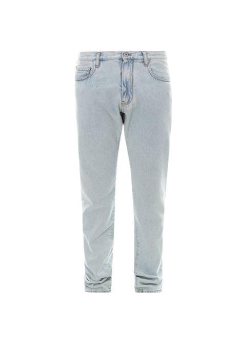 Jeans con logo OFF WHITE | 24 | OMYA102S21DEN00340DENIM