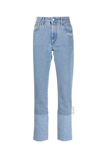 Jeans dritti a vita alta OFF WHITE | 24 | OWYA019S21DEN002DENIM