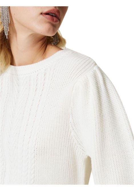 Maglia in misto lana con trecce TWIN-SET | 7 | 212LI3NGG05847