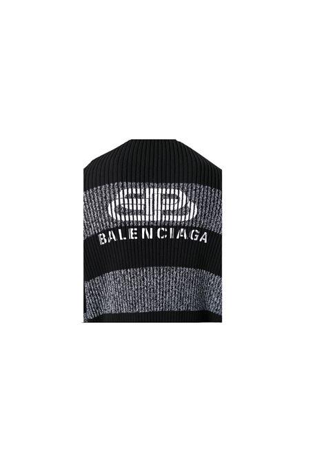 CARDIGAN CON RIGHE Balenciaga | 39 | 606898T3162NERO