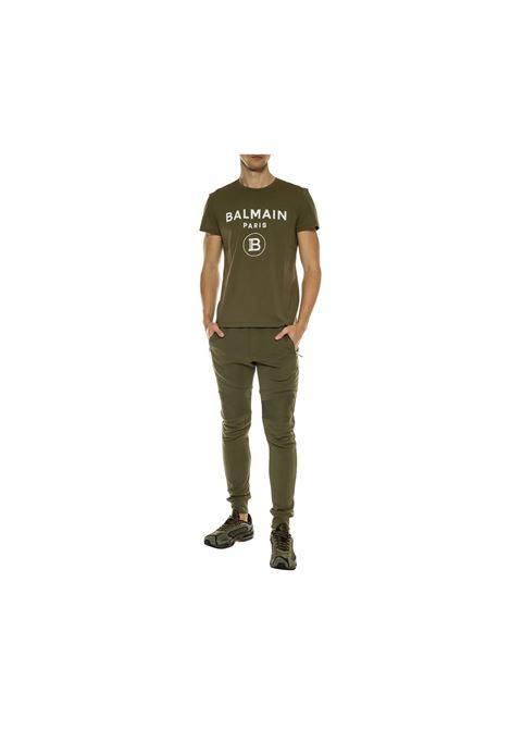 T-SHIRT GIROCOLLO BALMAIN | 8 | TH11601VERDE