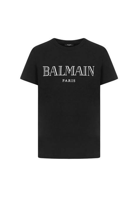 T-SHIRT CON STAMPA BALMAIN | 8 | UH11601I312EAB