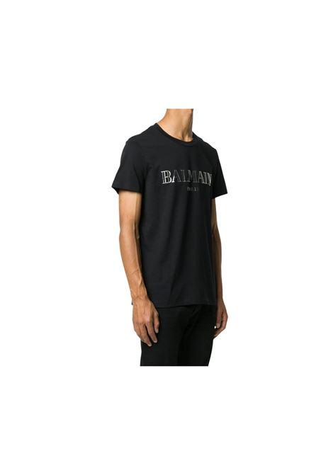 T-SHIRT CON STAMPA BALMAIN | 8 | UH11601I312EBO