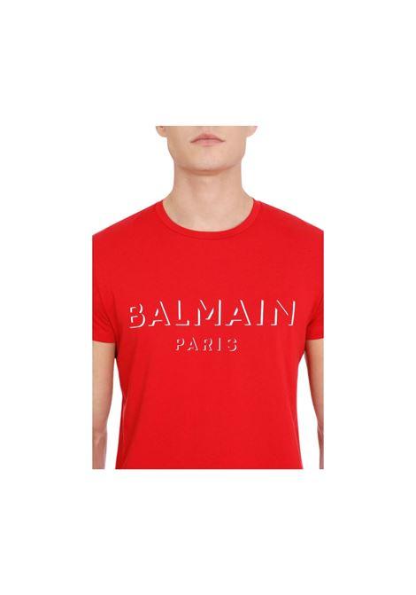 T-SHIRT CON STAMPA BALMAIN | 8 | UH11601I3643AA