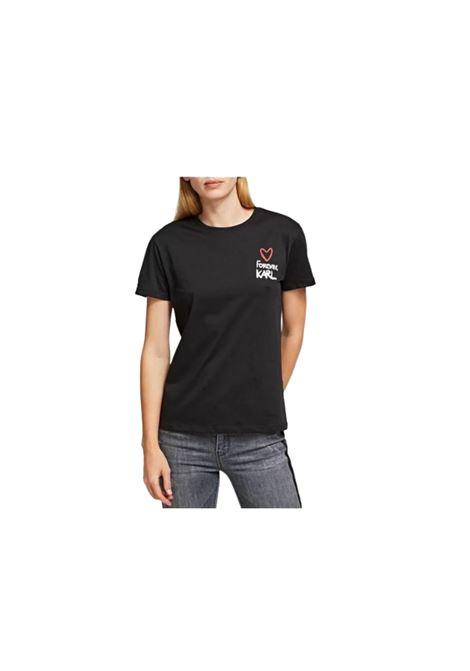 T-SHIRT CON STAMPA KARL LAGERFELD | 8 | 200W175099
