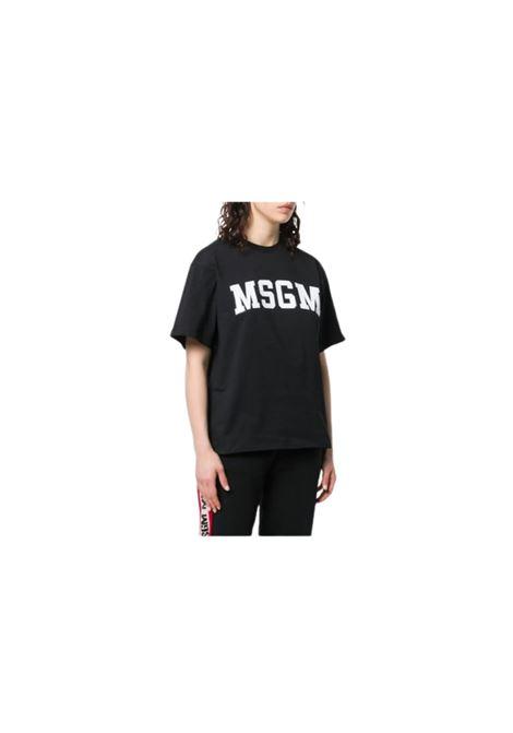 T-SHIRT OVERSIZE CON LOGO MSGM | 8 | 2641MDM16219529899