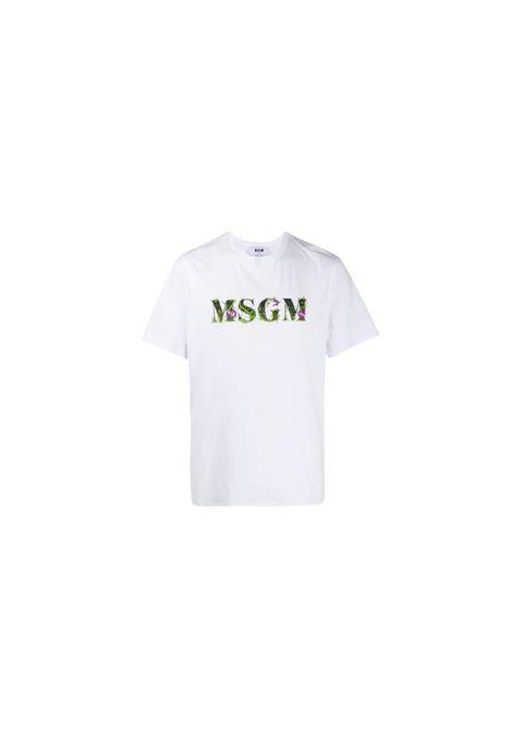 T-SHIRT CON RICAMO MSGM | 8 | 2940MM22020759801