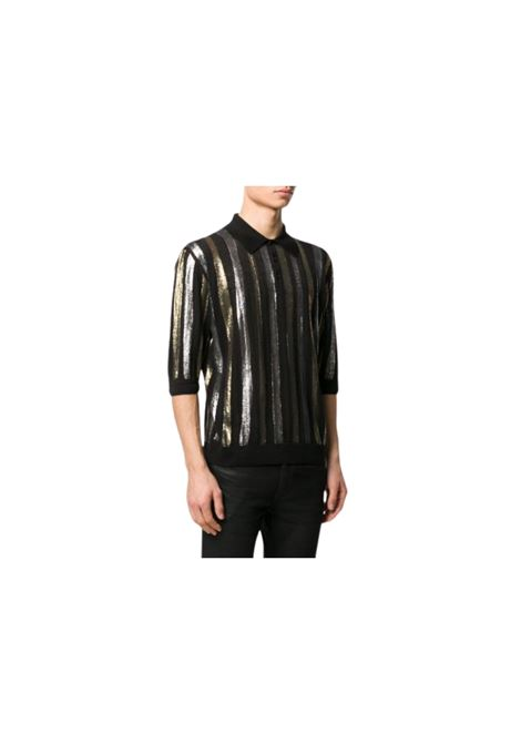POLO A RIGHE IN LINO SAINT LAURENT | 2 | 602945YAKF21040