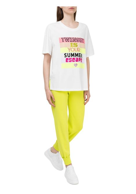 T-SHIRT CON STAMPA FRONTALE TWIN-SET | 8 | 211LL2KHH00018