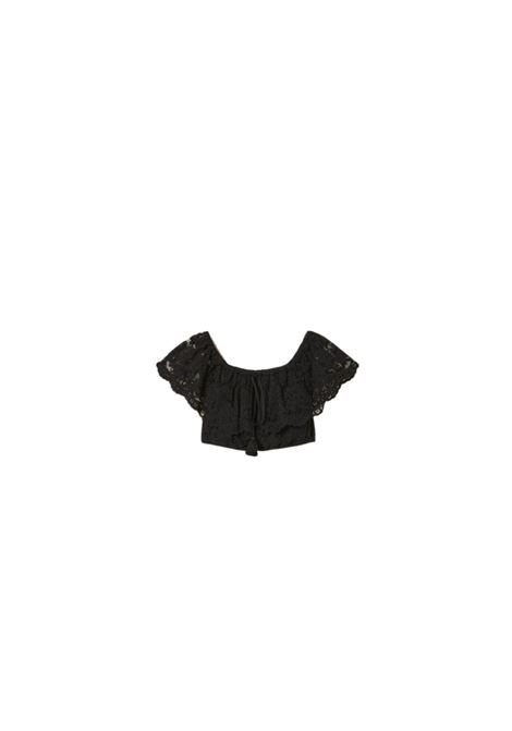 TOP CROPPED IN PIZZO MACRAME TWIN-SET | 40 | 211LM2KNN00006