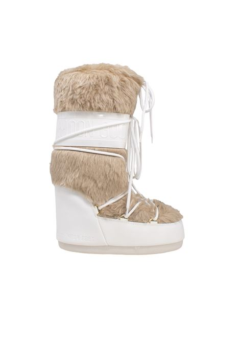 CLASSIC FAUX WHITE MOON BOOT | Boots | 140890002BIANCO