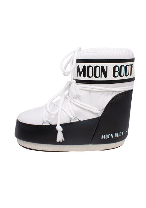 CLASSIC LOW WHITE BLACK MOON BOOT | Boots | 140934002BIANCO