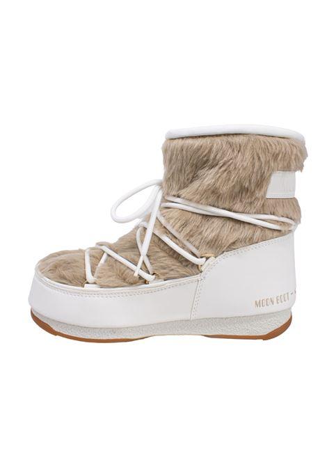 MONACO LOW FUR WHITE MOON BOOT | Boots | 240097002BIANCO