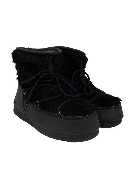 MONACO LOW FUR BLACK MOON BOOT | Boots | 24009700NERO
