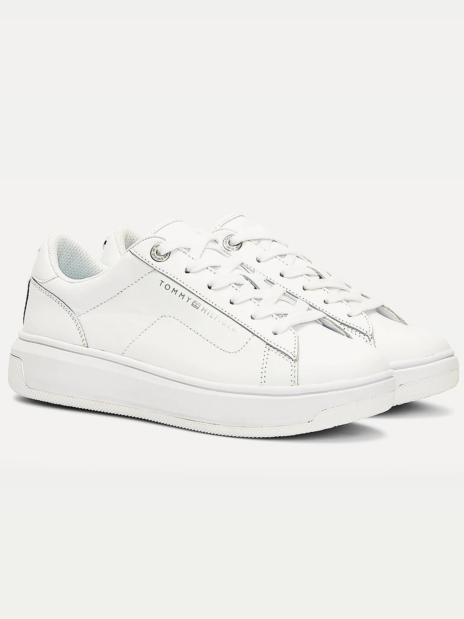 TOMMY HILFIGER LEATHER CUPSOLE sneakers