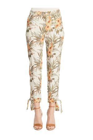 GAUDI JEANS Pantalone con motivo tropicale GAUDI JEANS | 9 | 111BD25040115061-02