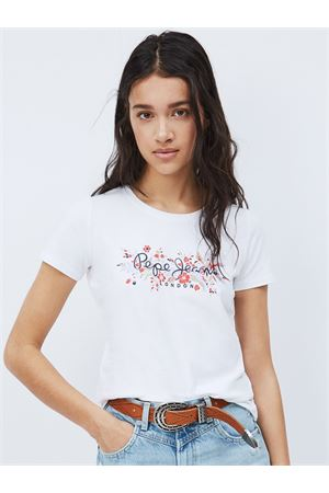 PEPE JEANS T-shirt with logo and flowers PEPE JEANS | 8 | PL504808803