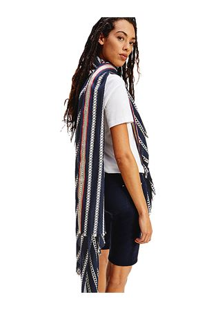 TOMMY HILFIGER Scarf with chains TOMMY | 77 | AW0AW097920K4