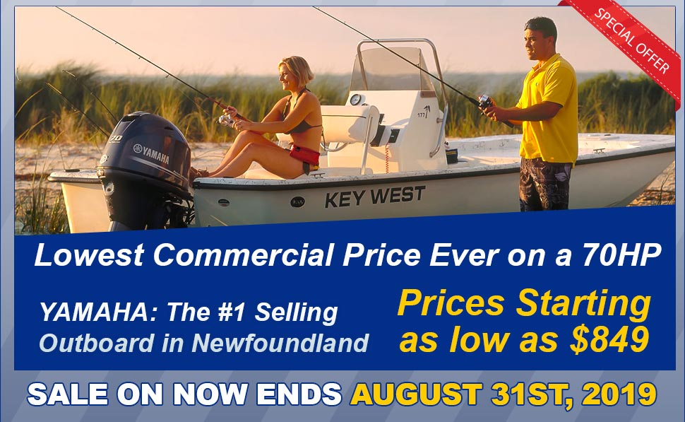 SAVE UP TO $7000!! YAMAHA OUTBOARD MOTOR SALE! - Clarenville