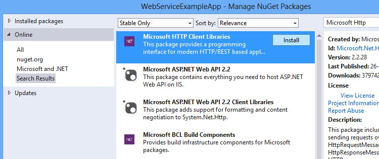 Calling Web Service from Windows Phone 8 App | Coding Paradox