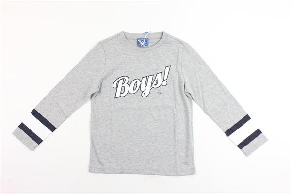 shirt m/l cotone con stampa boys FAY | Shirts | NDHB137767JGRIGIO