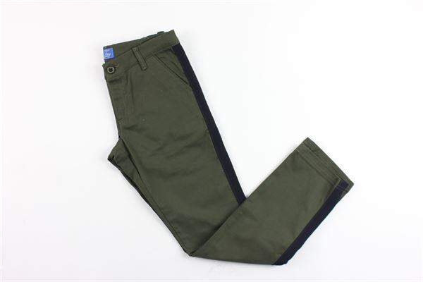 pantalone tinta unita tasca america FAY | Pantaloni | NUH80377320VERDE