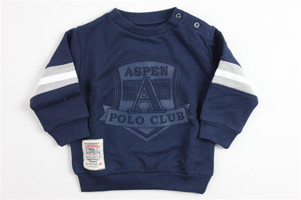 girocollo con stampa ASPEN POLO CLUB | Felpe | 1071F0155BLU
